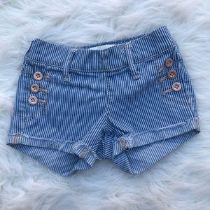 abercrombie kids girls shorts 3/4